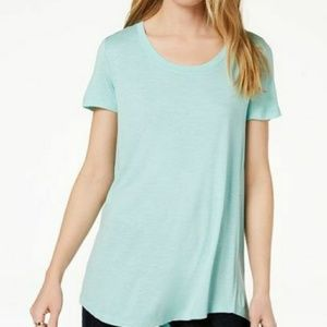 Maison Jules Aqua Brook Short Sleeve Top  XL